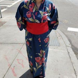 Authentic Japanese Yukata with Obi